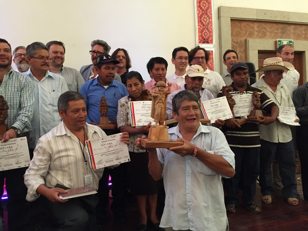 Winners of the 2015 Mexico Cup of Excellence in Tuxtla Gutierrez, Chiapas, Mexico