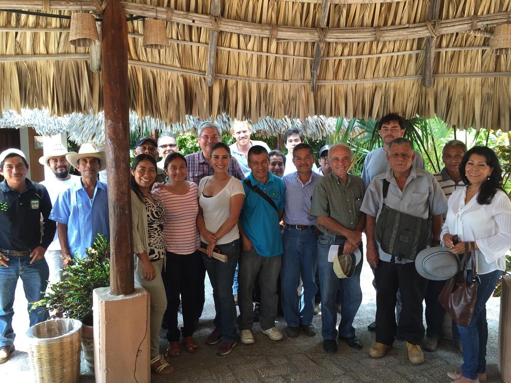 Winning producers of the Aromas de la Sierra Madre event in Puerto Escondido, Oaxaca, Mexico