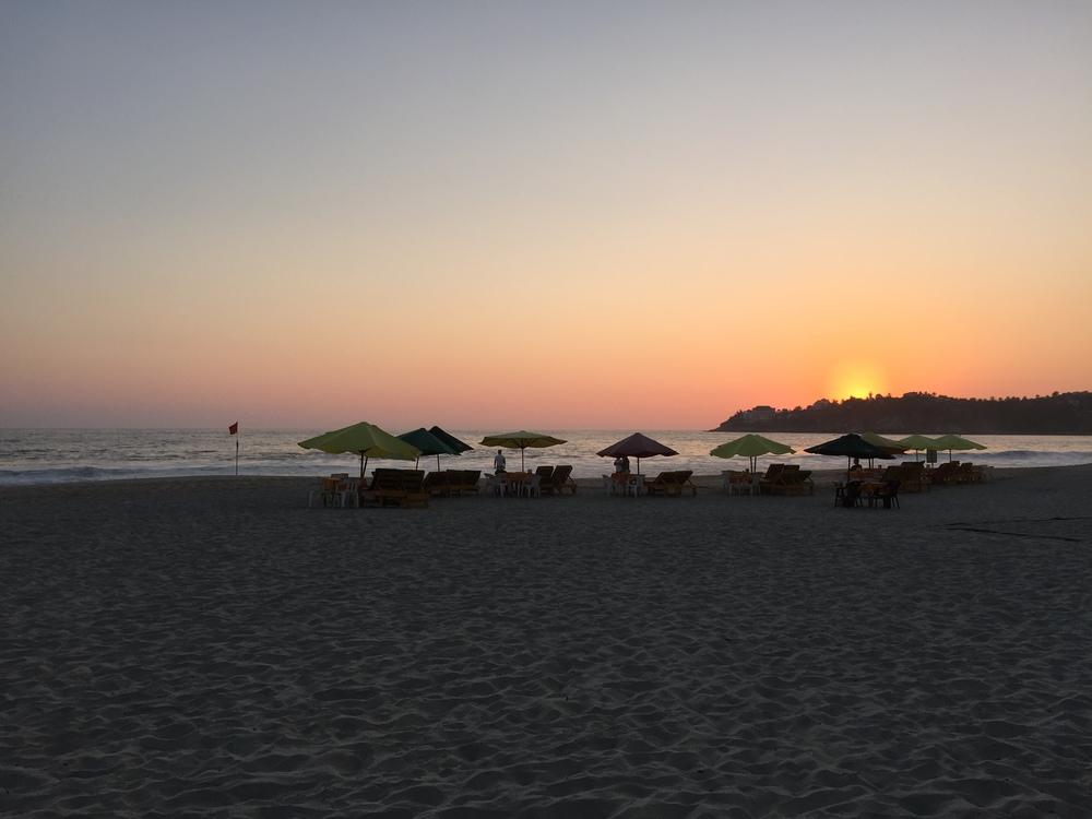 Sunset on the Playa Zicatela, Puerto Escondido, Oaxaca, Mexico