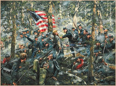 The 20th Maine's charge on Little Round Top
