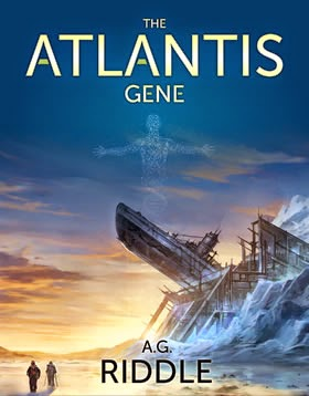 Cover of Book 1 of The Atlantis Gene series