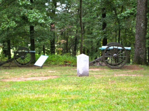 "The spot where General George Henry Thomas became ""The Rock of Chickamauga."""