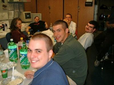 Stevo and I as college freshmen.