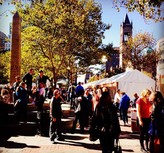 The main drag at the 2014 Boston Book Festival. Photo by Daniel Ford