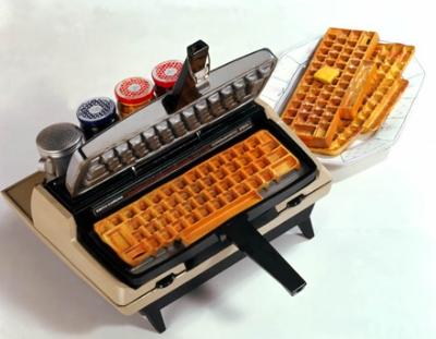 Waffle Iron Typewriter