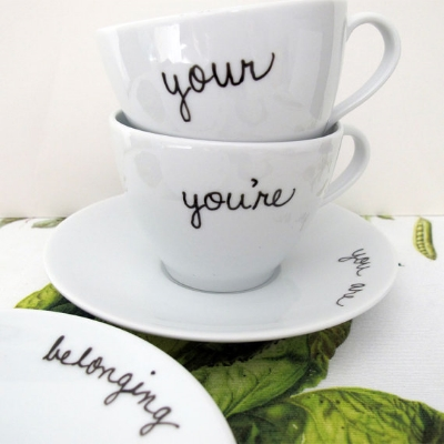 Grammar Teacup and Saucer Set