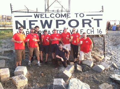 The Newport Storm crew at the Newport Folk Festival