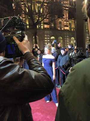 Actress Emily Atack on the red carpet (Photo by Stephanie Schaefer)