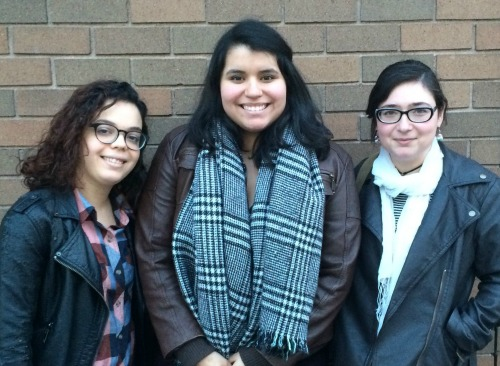 From left to right: Vina Castillo, Natalie Noboa, and Holly Nikodem