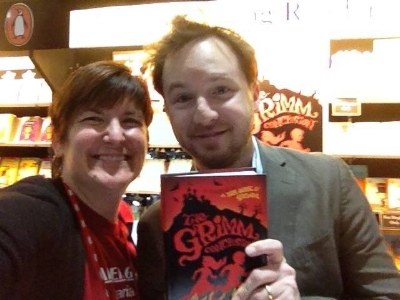 Lisa Carroll with the author Adam Gidwitz