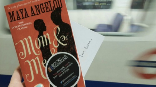Books on the Underground helped Emma Watson share Maya Angelou's   Mom & Me & Mom   in London.   (Photo courtesy of Cordelia Oxley)