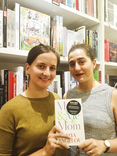 Hollie Fraser, left, and Rosy Kehdi, founders of Books on the Subway in New York City.
