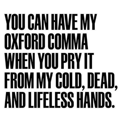 Image result for oxford comma