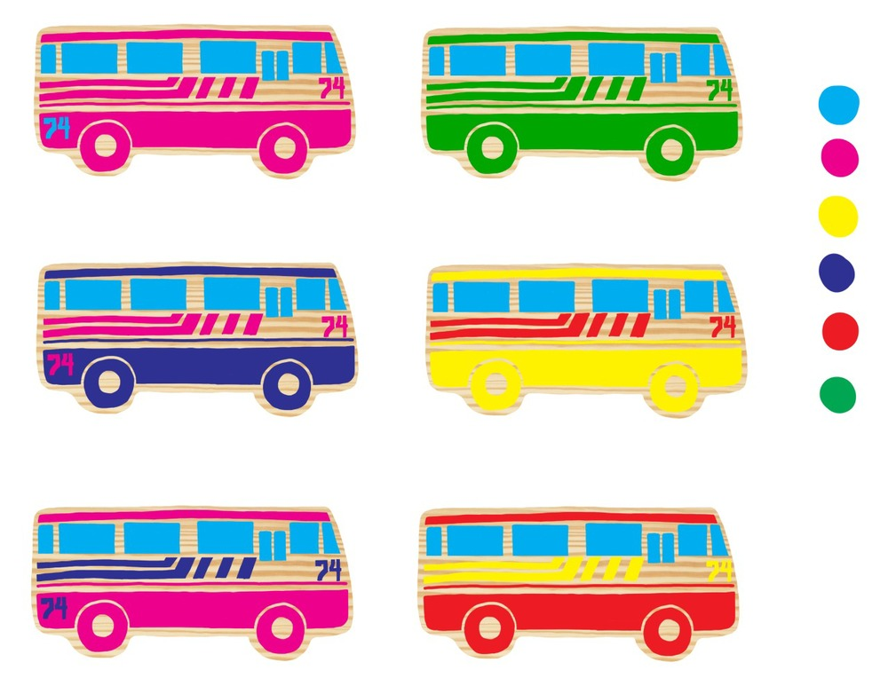 Wooden Toy Busses