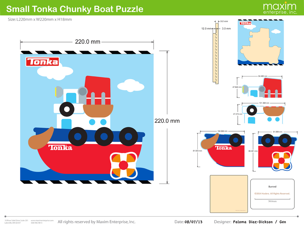 Wooden TONKA Puzzle