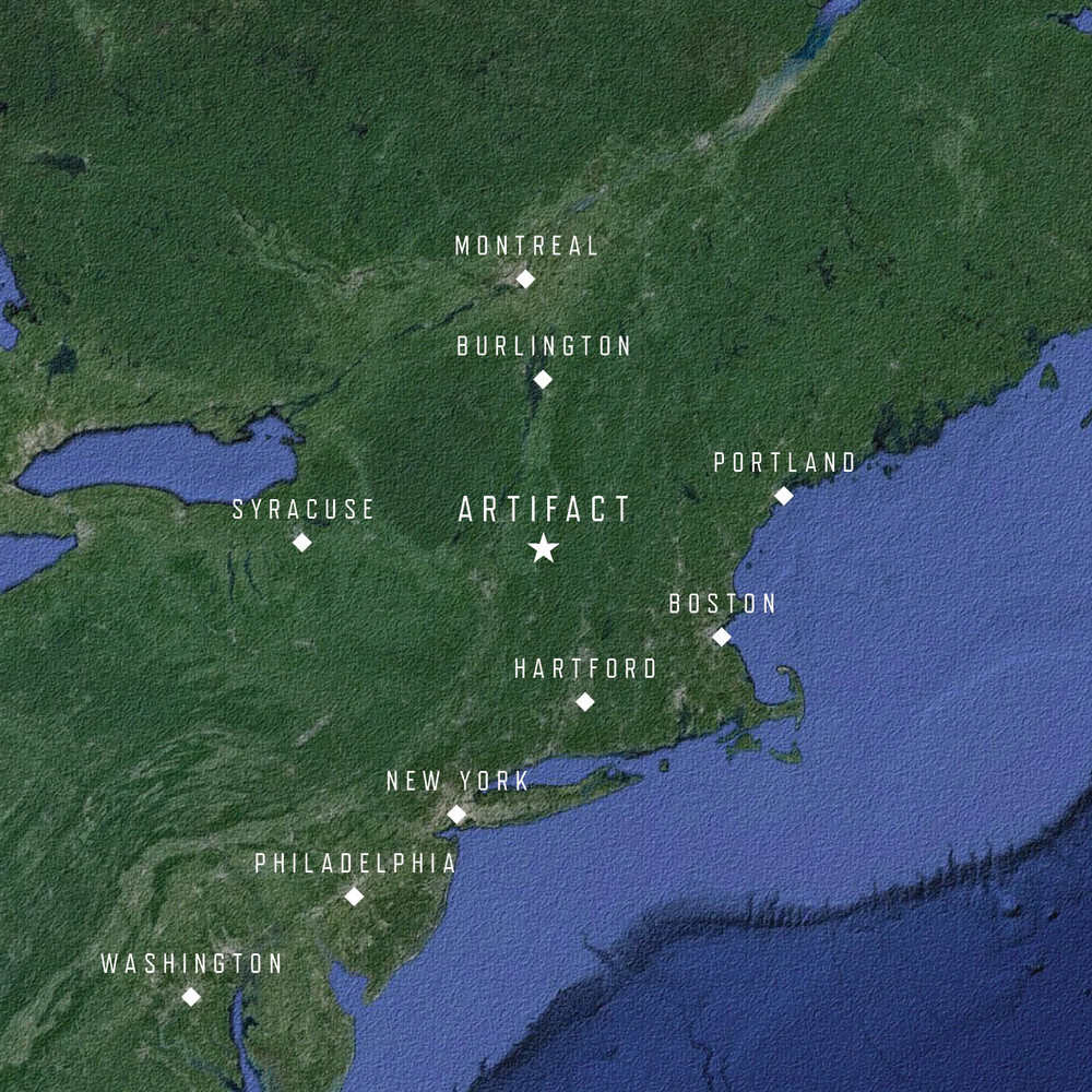 Artifact is located in the Battenkill Valley of Vermont, within an easy drive of the major cities of the northeast.
