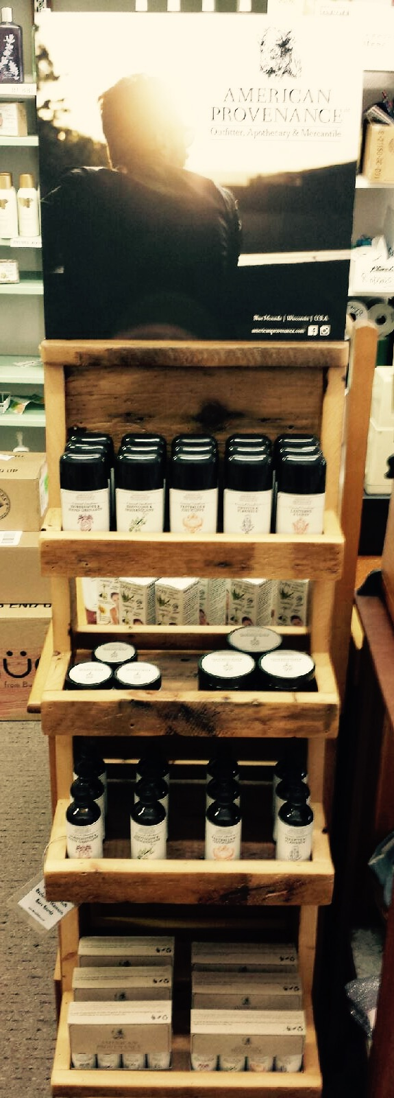American Provenance all natural grooming products now at Isaccs Soaps in Mt Horeb