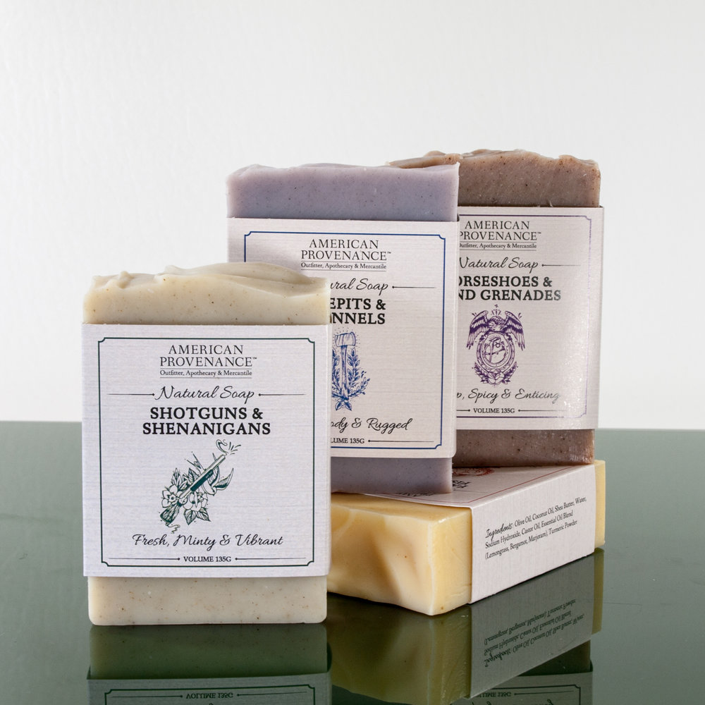 We've partnered with Milwaukee's own Oil & Ash Soap Co. to bring you the best natural soap made in the traditional way--with a few amazing ingredients and time.  It's what your grandparents may have made, but smells a whole lot better and leaves the skin feeling nourished, smooth, and ready to tackle the day.  -