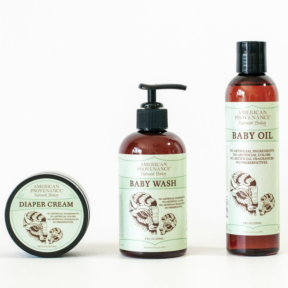 You deserve naturally soft and nourished skin and so does your baby. That's why we developed our Diaper Cream, Baby Oil and Baby Wash to safely and effectively clean, protect and moisturize your baby's sensitive skin—all without nasty additives. -