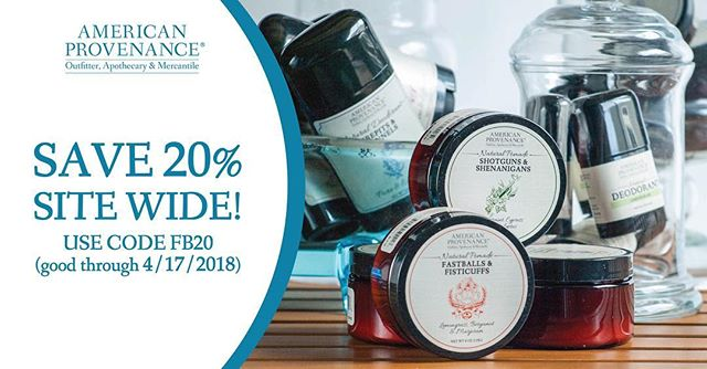 Last day of our 20% Off Everything April Sale! Get your taxes done and then head over to our site to pick up some natural products.