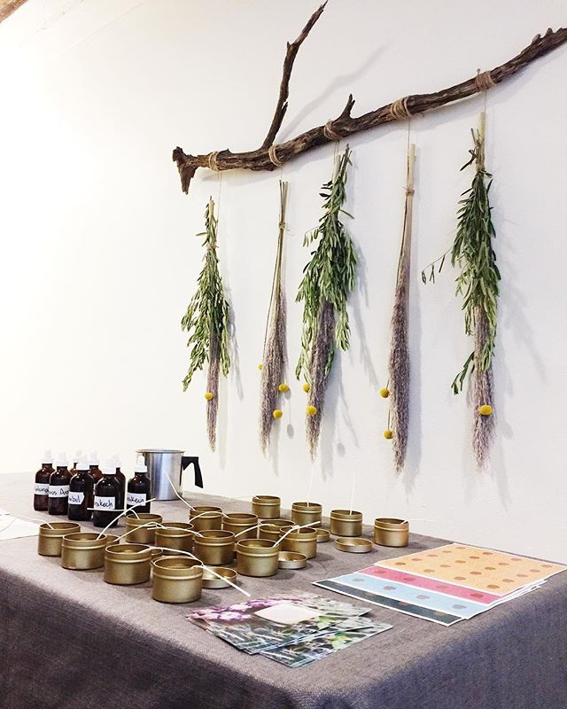 Private candle making event with @udander ! We're happy to be here #wellness #candlemaking #exhale