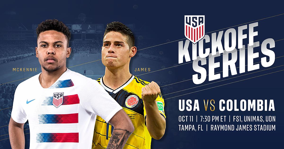 U S Mens Soccer Kickoff Series Usa Vs Colombia