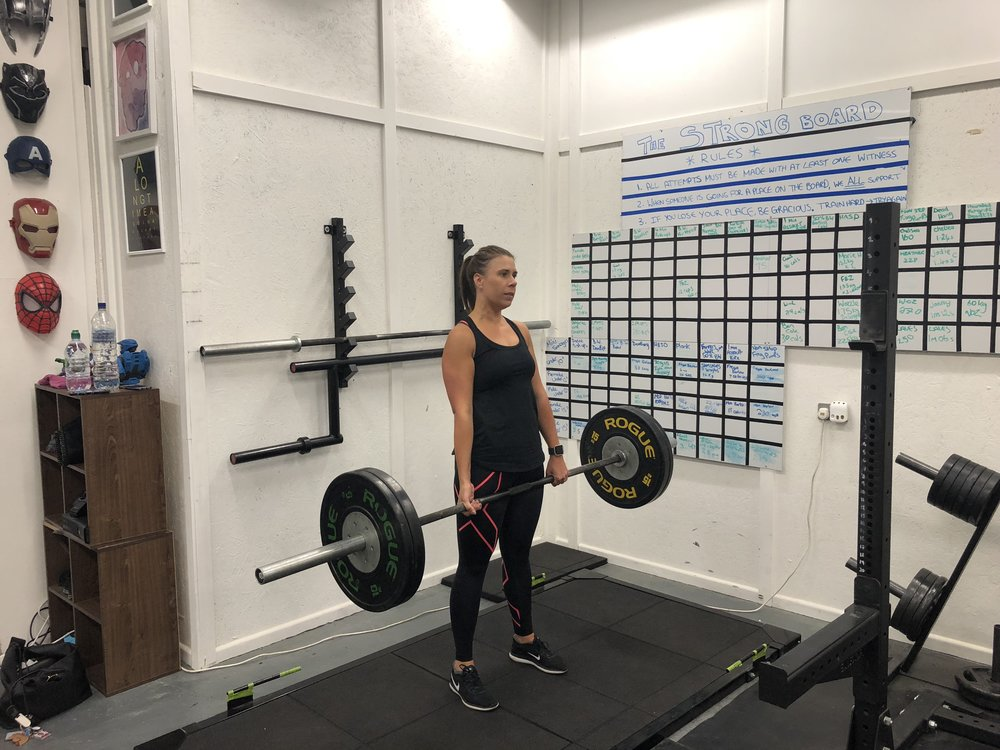 kate - I started training with Andy in 2015. I've progressed in so many ways, strength, mobility, fitness and confidence. My entire body shape changed and I have become a little less focused on what the scales say. The gym has a great atmosphere and I look forward to every session. Andy's knowledge, support and passion is exceptional, he is a true credit to the industry.