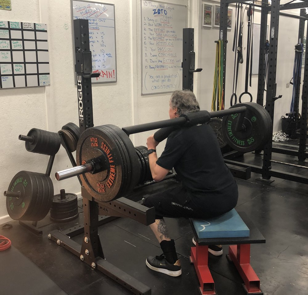 Craig - I started training at the Apocalypse gym in June 2018. I had been a member of gyms before but I felt that I needed something more structured & also exercises that would help my injured knee.After my initial consultation with Andy, I started training on a twice a week basis. I was given exercises to strengthen the muscle around my knee as well as weight exercises to improve my strength and overall fitness. I also made a note of my eating habits which although not great at the time have now improved as I am on a more structured diet. Although I do occasionally lapse & have a Wetherspoons big brekkie!Andy is very good at giving exercises for specific injuries and joint pains, & also changes the workouts every four weeks, so I am always doing something new & don't get bored. Now seven months on my knee is much improved & I am also feeling stronger & looking leaner (according to the wife, anyway!) There is always a good atmosphere at the gym, the background music is excellent (most of the time) and everybody is friendly and helpful. I really look forward to training after a hard day at work and I even occasionally turn up on a Sunday morning!I would recommend Andy and the Apocalypse gym to anybody looking for good, structured, worthwhile training.