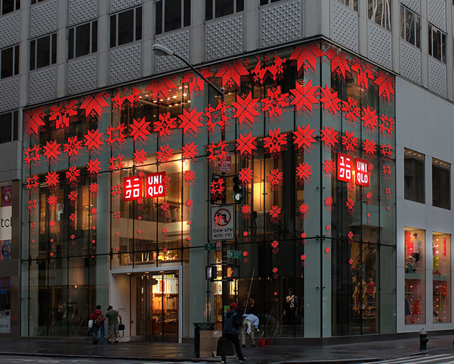 Uniqlo Christmas display _ Proposed concept