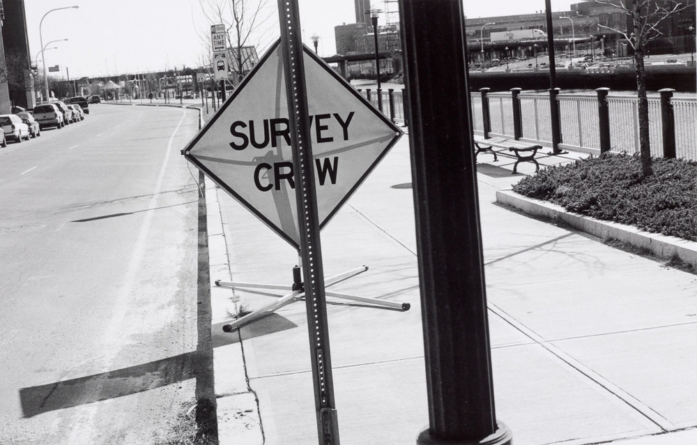 South Water Street. This is the sign we set out whenever we're on the job...