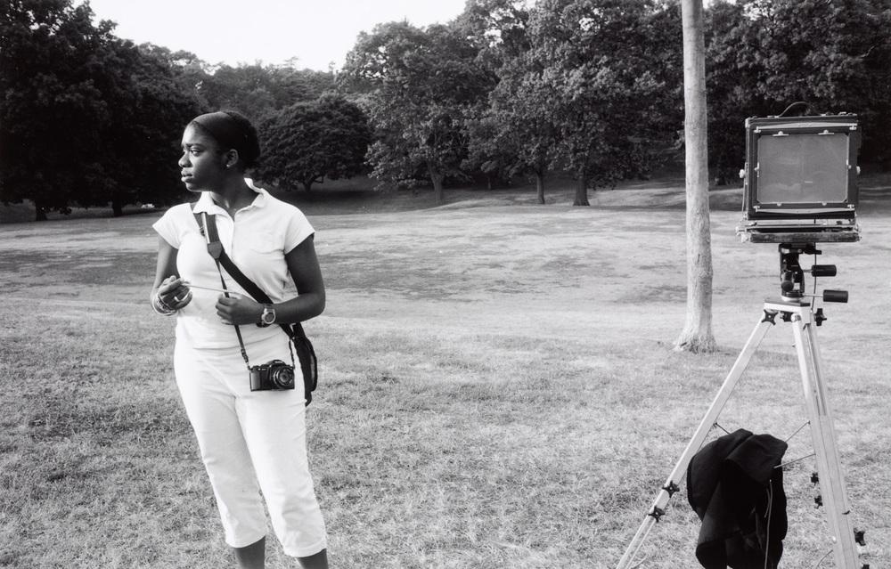 Adrienne and Deardorff in Roger Williams Park.