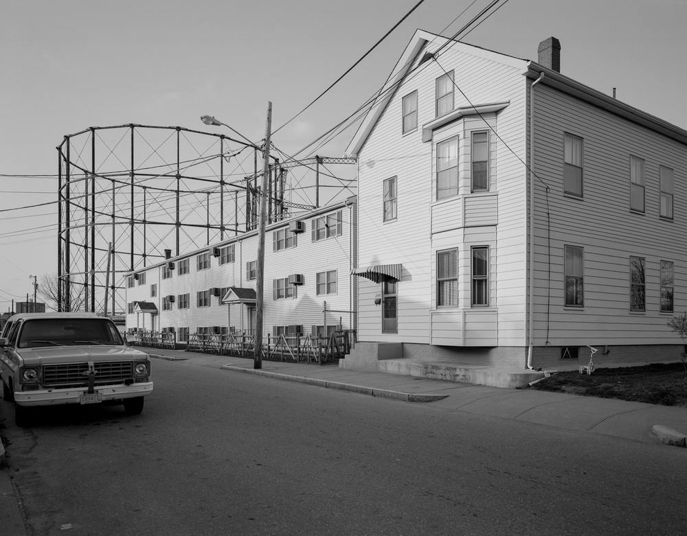 Gas Holder and Apartments, Pawtucket, 1992.
