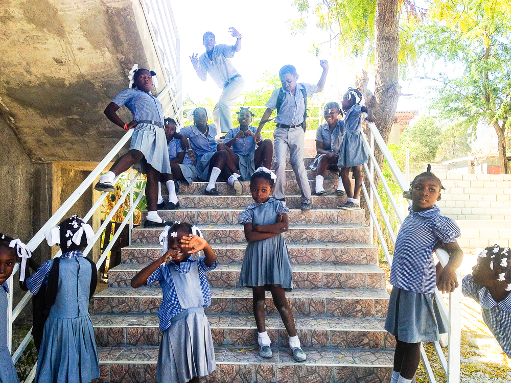 Children attending school at the Haitian Christian Mission in Fonds Parisien.