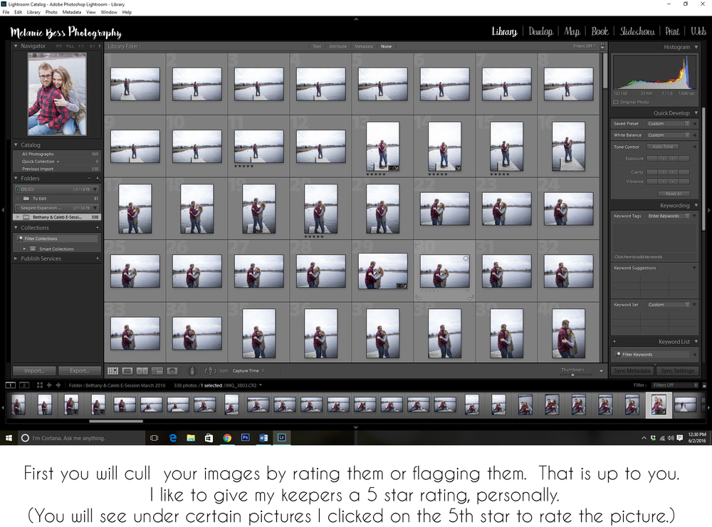 STEP ONE - CULL YOUR IMAGES