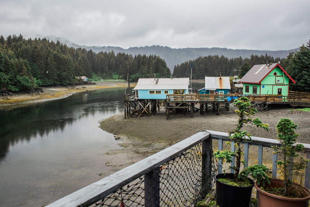 Oh Seldovia, what a magical place. You can only get here via boat/ferry and you can stay in little b&b's that are stilt houses along the slough.