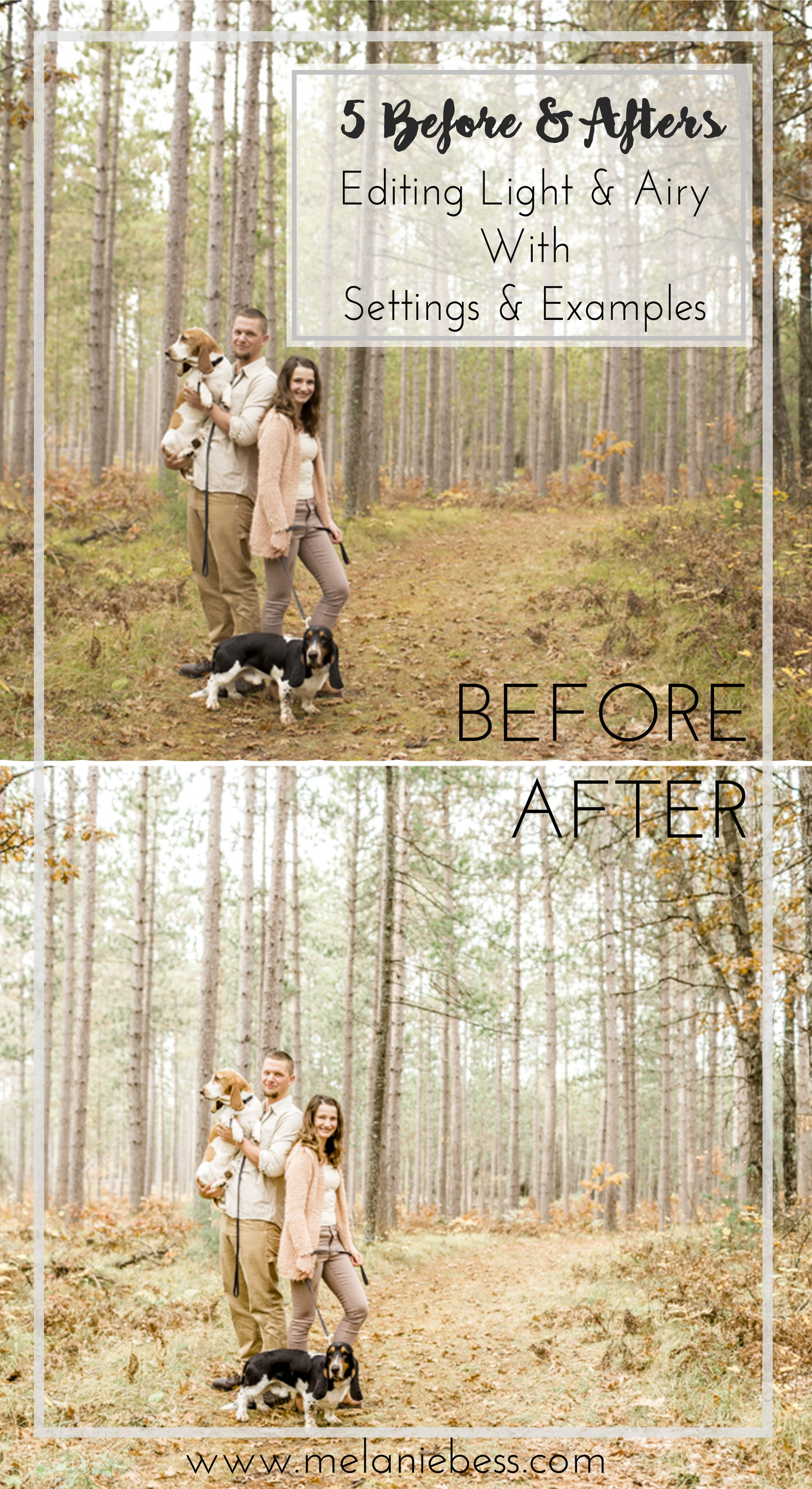 Before & After - Light & Airy Images Using Mastin Labs