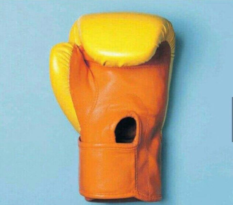 Boxing glove or danger to humanity?