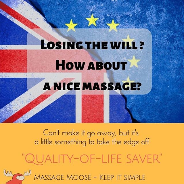 Look after yourself. 😊  May also help with existential angst, apocalyptic fears and overwhelming despondency (not evidenced) 💖😜 https://www.massagemoose.co.uk #QualityOfLifeSaver #EdgeOff #Comfort