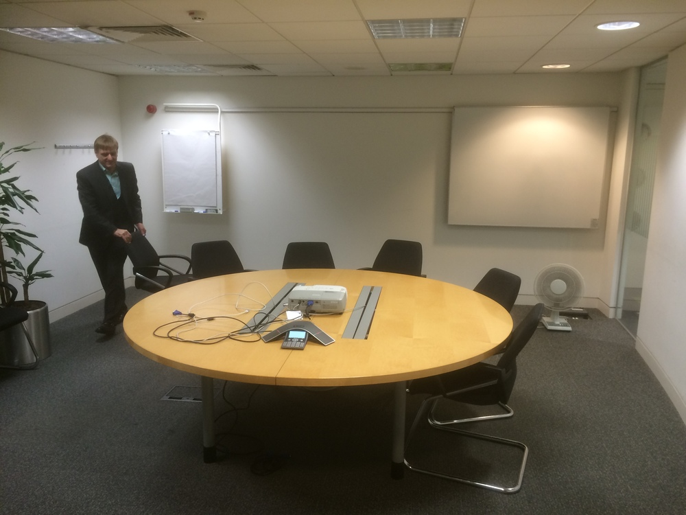 What the conference room at IBM looked like before we got our hands on it!