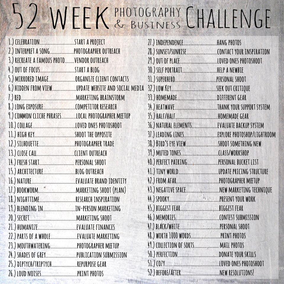 Original post -  http://petapixel.com/2015/01/01/52-week-photography-business-challenge/