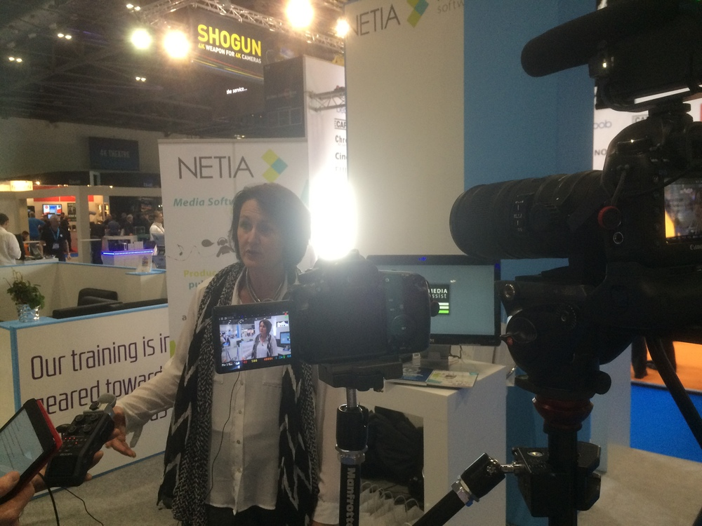 Isabelle from Netia talks to IABM TV about their BVE show experience and benefits of being a member
