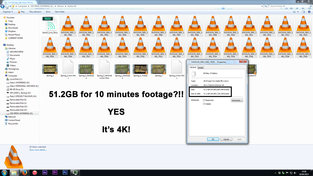 It's less than 10 minutes worth of footage, in fact!