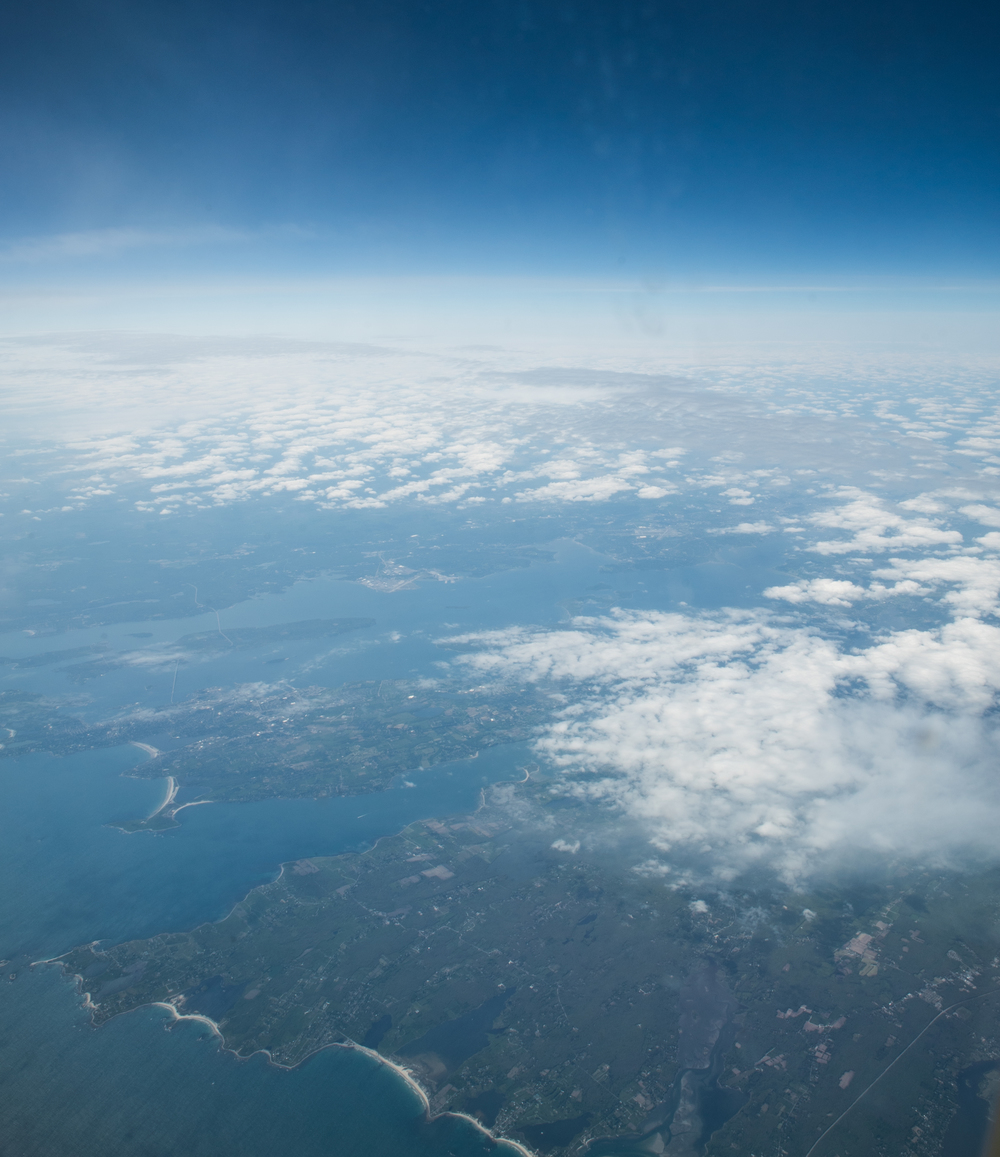 aerial photo over East Coast of Canada