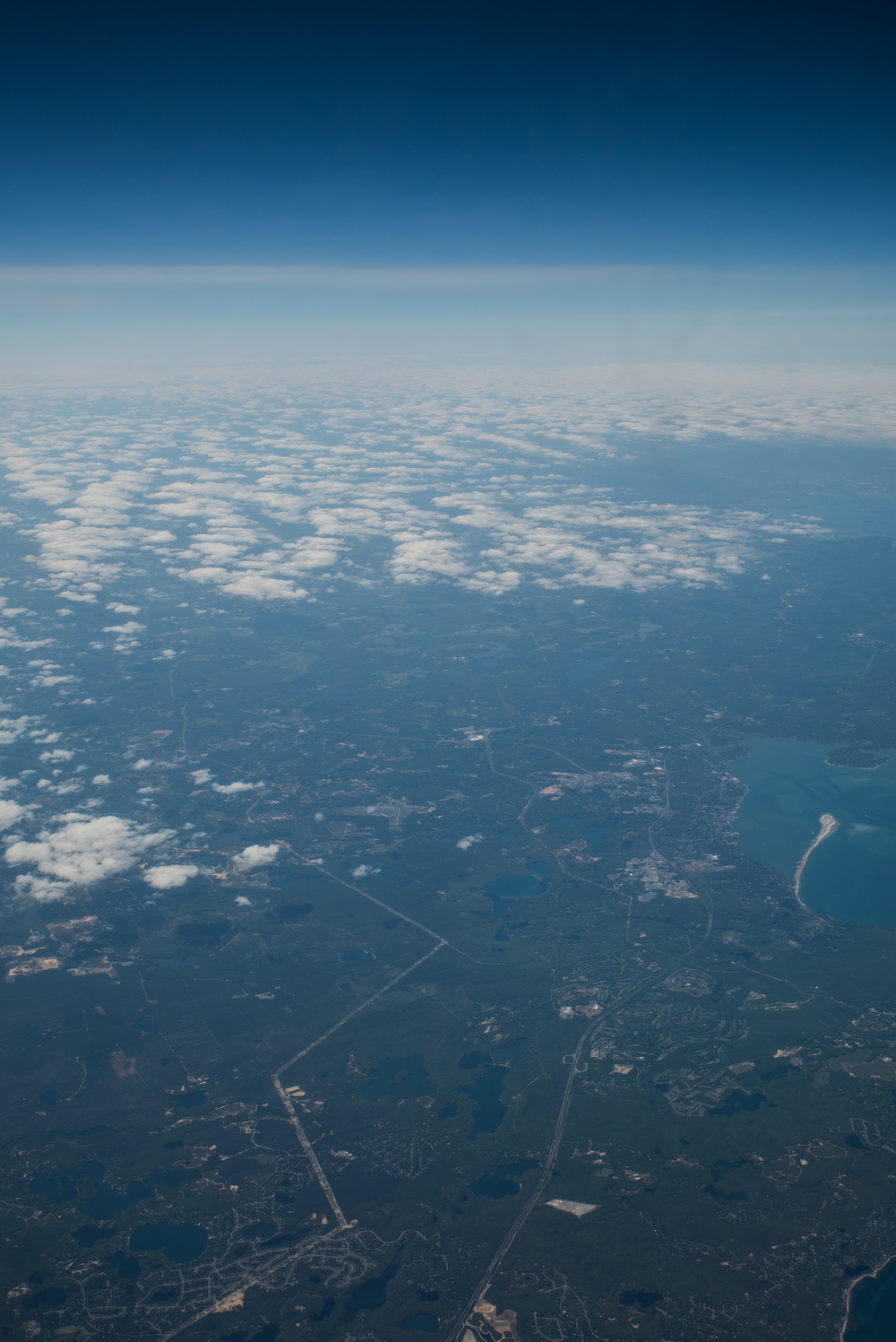 aerial photo over Florida (Orlando + East Coast)