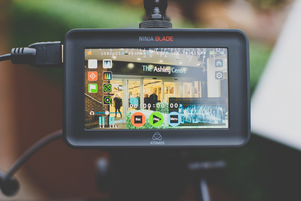 The Atomos Ninja Blade and 5D mk III filming