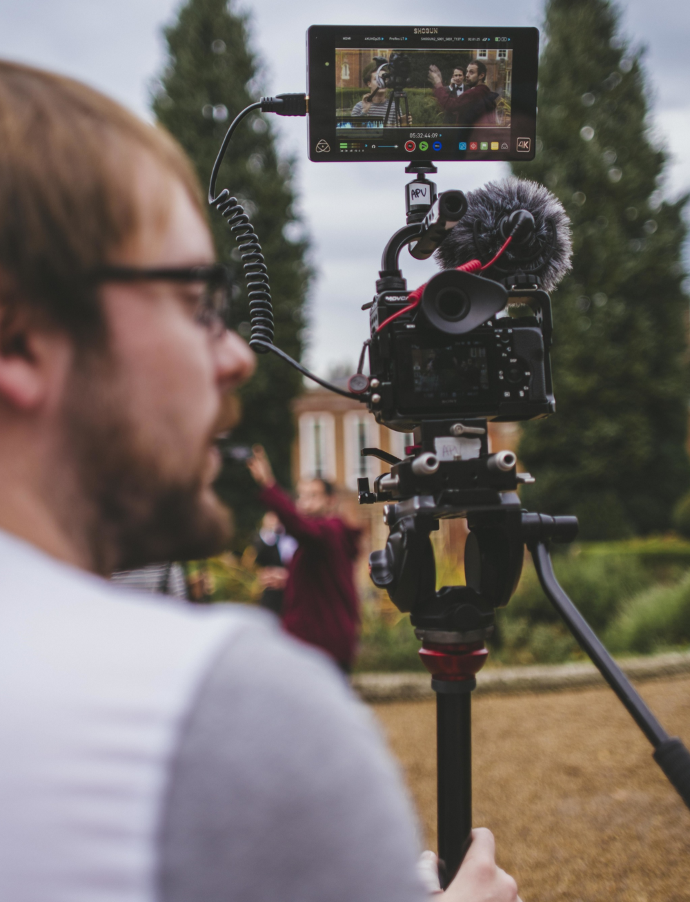 The Atomos Shogun and Manfrotto 755Cx-3 taking centre stage.