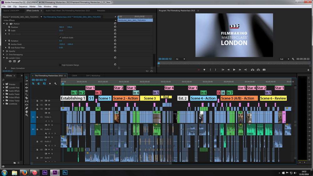 Filmmaking Masterclass post production timeline