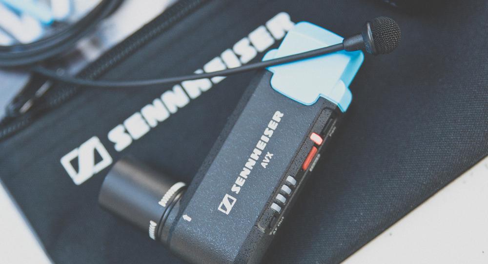 Sennheiser AVX lavalier microphone system Adam Plowden video BVE 2016