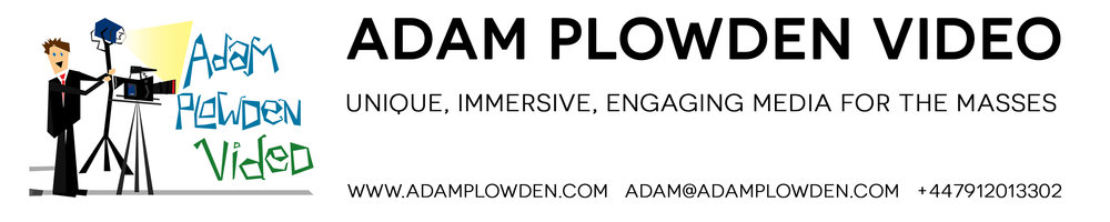 Adam Plowden Video APVideo Production Company video agency media creation Epsom Surrey London filming freelance cameraman DoP motion graphics animation