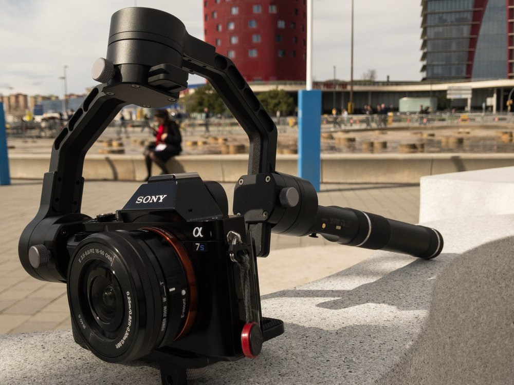 Zhiyun Crane hand held gimbal with Sony a7S and Sony 16-50mm